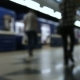 People Are Waiting for the Train at Metro Station and Boarding a Carriages - VideoHive Item for Sale