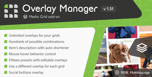 Media Grid - Overlay Manager add-on - CodeCanyon Item for Sale