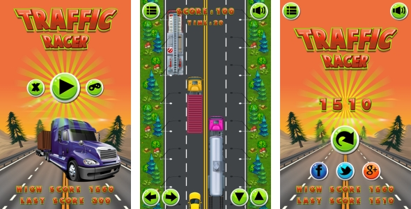 Traffic Racer - HTML5 Game + Mobile Version + AdMob! (Construct 2 CAPX)            Nulled