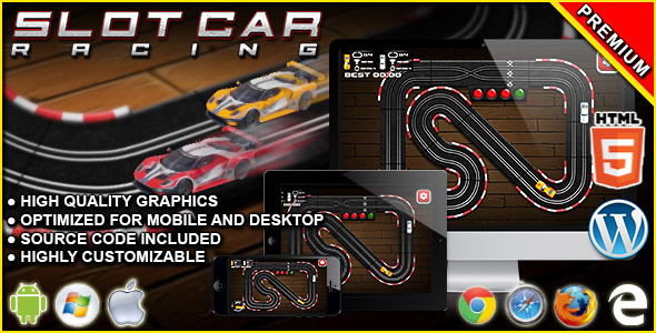 Slot Car Racing - HTML5 Racing Game            Nulled