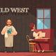 Wild West Bartender Background