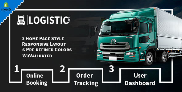 Image of Logistic Pro - Transport - Cargo - Online Tracking - Booking & Logistics Services Shopify Theme