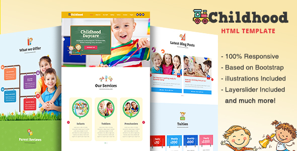 Image of Childhood - Children/Daycare HTML Template