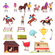 Horse Racing Icons Collection