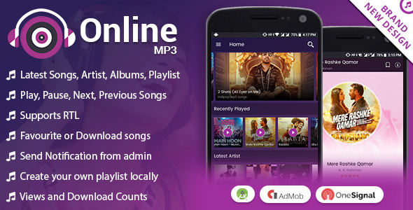 Android Online MP3 with Material Design - CodeCanyon Item for Sale