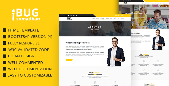BugSomadhan - Corporate Responsive Html Template - Business Corporate