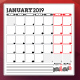 Monthly Planner 2019 - GraphicRiver Item for Sale