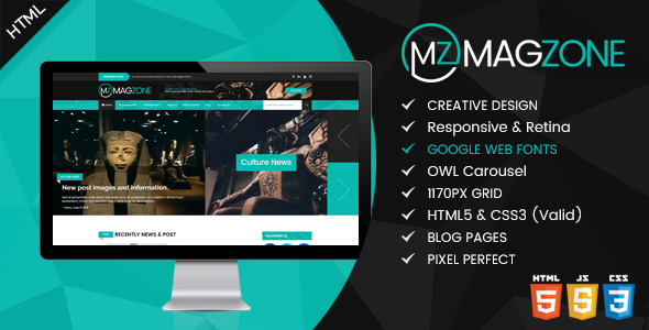 Image of Magzone - Magazine, News and Business Blog HTML5
