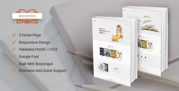 Boighor – Books Library eCommerce Store - Shopping Retail