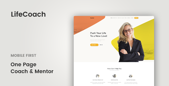 LifeCoach - Coach, Speaker & Mentor Template