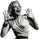 Vintage Woman Horror Scream