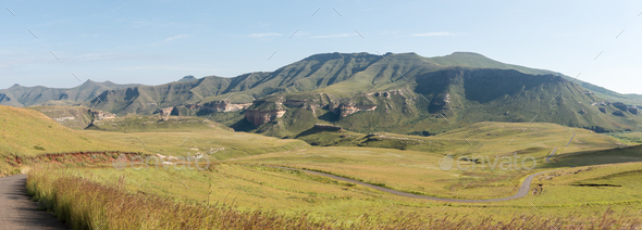 Panoramic view of the landscape at Golden Gate - Stock Photo - Images