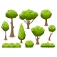 Cartoon Bush and Tree Set - GraphicRiver Item for Sale