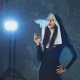 Beautiful Catholic Nun Smokes. Rotten Religion - VideoHive Item for Sale