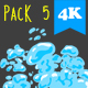 Water Transitions Pack 5 - VideoHive Item for Sale