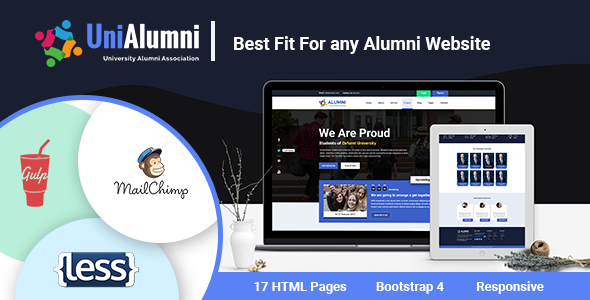 Image of UniAlumni - University Alumni Html Template