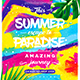 Summer Escape Party Flyer vol.9 - GraphicRiver Item for Sale