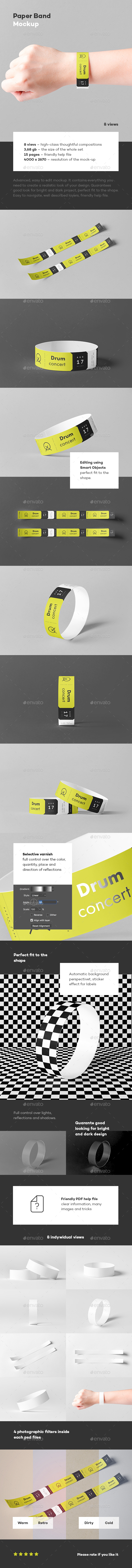 Paper Band Mock-up - Miscellaneous Print