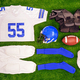 American footbal kit Flat lay - PhotoDune Item for Sale