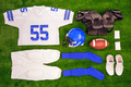 American footbal kit Flat lay - PhotoDune Item for Sale