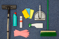 Cleaning equipment flat lay - PhotoDune Item for Sale
