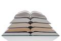 Open hardback books stack isolated on white - PhotoDune Item for Sale