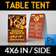 Restaurant Table Tent Template Vol.20