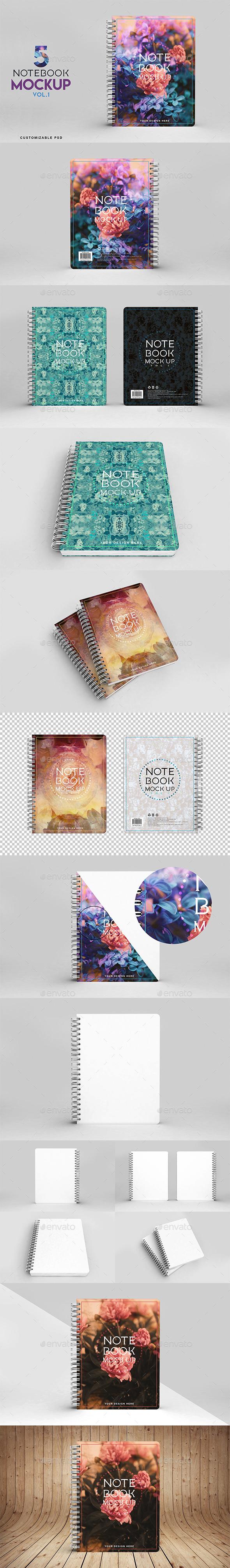 Notebook Mockup Vol 1 - Print Product Mock-Ups
