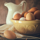 Fresh country eggs in bowl on table - PhotoDune Item for Sale