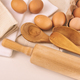 Top view of fresh eggs and utensils on table - PhotoDune Item for Sale