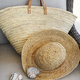 Closeup of straw hat and purse in chair - PhotoDune Item for Sale