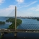 South Bridge. Aerial View of South Subway Cable Bridge. Kiev, Ukraine. - VideoHive Item for Sale