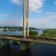 South Bridge. Aerial View of South Subway Cable Bridge Kiev, Ukraine - VideoHive Item for Sale