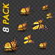 Butterflies - Monarch - Pack of 8 Transitions - VideoHive Item for Sale