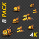 Butterflies - Monarch - Pack of 8 Transitions - 4K - VideoHive Item for Sale