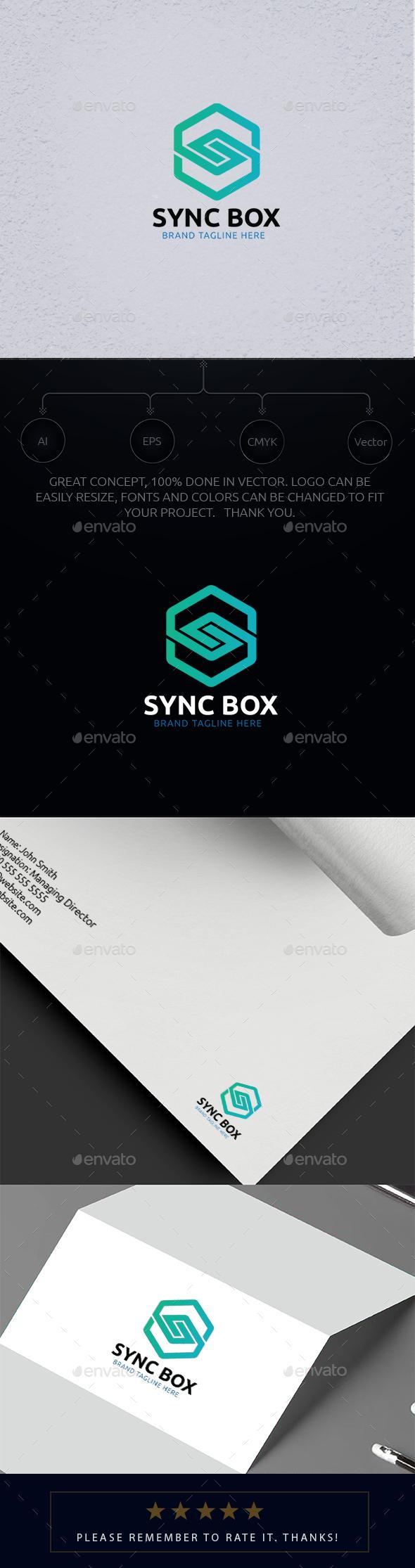 Sync Box Logo - Letters Logo Templates