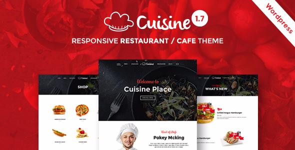 Cuisine - Restaurant WordPress Theme | Restaurant & Cafe - Restaurants & Cafes Entertainment