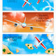 Airplanes Banners Realistic