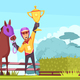 Flat Equestrian Sport Composition