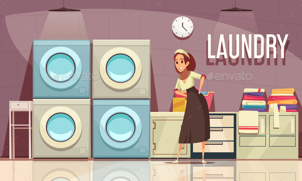 Hotel Laundry Center Background - Industries Business
