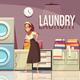 Hotel Laundry Center Background