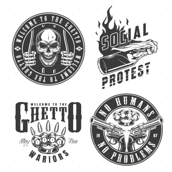 Set of Gangster Emblems - Miscellaneous Vectors