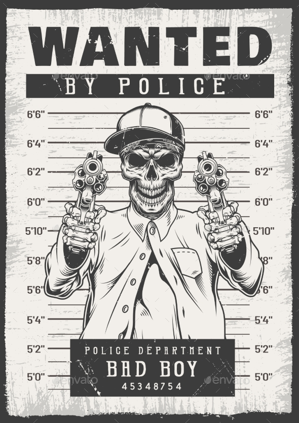 Wanted Modern Poster - Miscellaneous Vectors