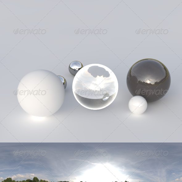 HDRI spherical panorama - 1909- cloudy sky - 3DOcean Item for Sale