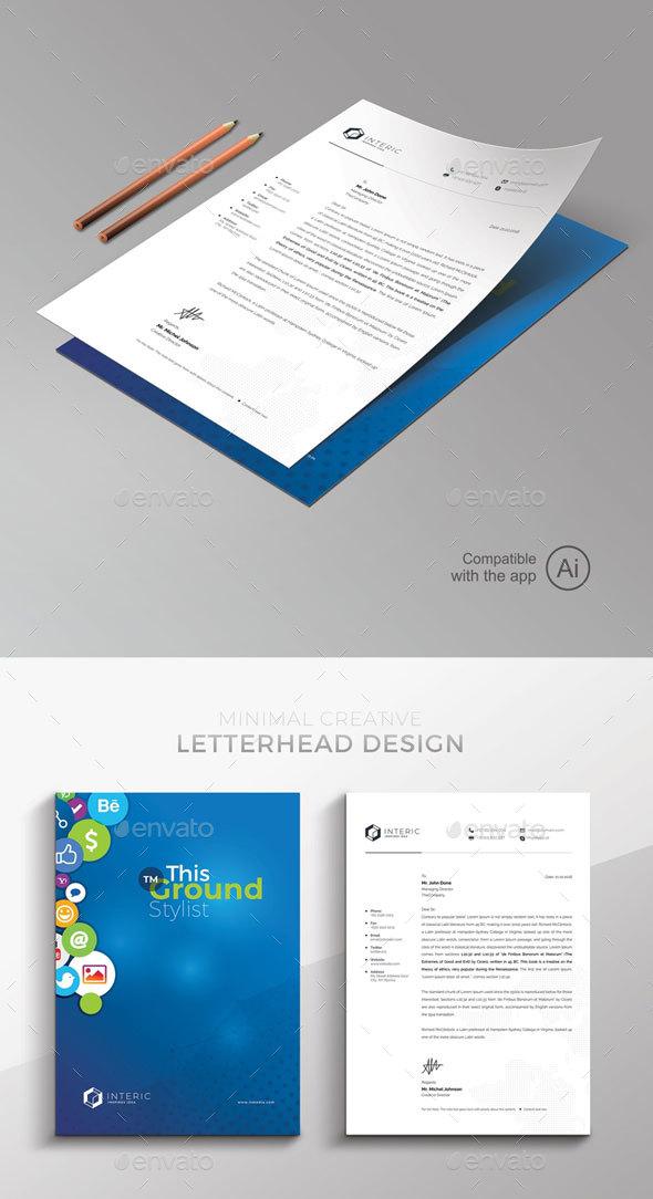 Social Media Letterhead Template - Stationery Print Templates
