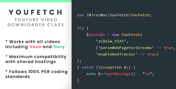 YouFetch - YouTube Video Downloader Class            Nulled