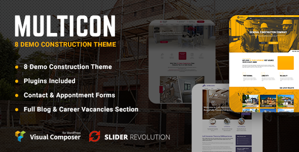 Image of Multicon - Multi-Purpose Construction Industry Theme
