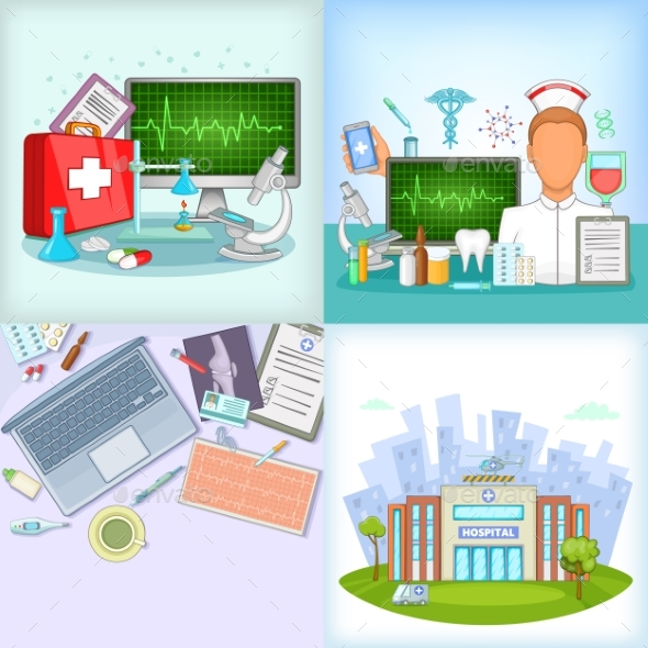 Medicine Banner Set - Health/Medicine Conceptual