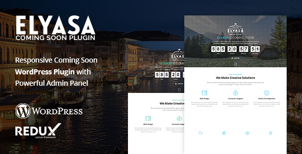Elyasa - Responsive Coming Soon WordPress Plugin            Nulled