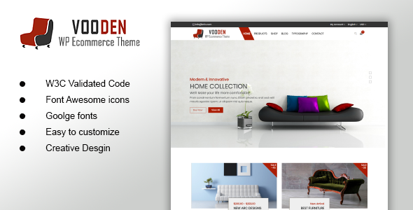 Vooden - Furniture Store HTML Template - Shopping Retail